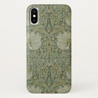 Coque iPhone X Mouron par le textile floral vintage de William