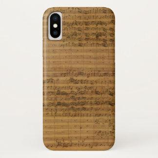 Coque iPhone X Musique de feuille vintage par Johann Sebastian