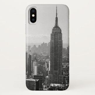 Coque iPhone X New York City noir et blanc