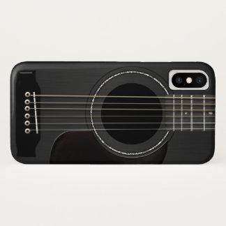 Coque iPhone X Noir de guitare acoustique