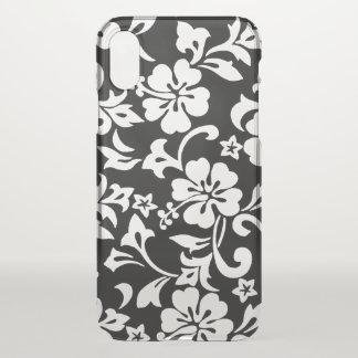 Coque iPhone X Noir hawaïen de ketmie de Kapalua Pareau