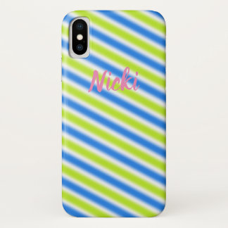 "Coque iPhone X Nom et conception contemporaine ""rayures """