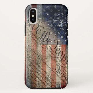 Coque iPhone X Nous le cas vintage de l'iPhone X de drapeau