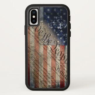 Coque iPhone X Nous l'iPhone X Xtreme dur de drapeau américain de