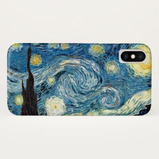 """Coque iPhone X """"Nuit étoilée"""" par Van Gogh"""