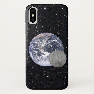 Coque iPhone X Obscurité ou côté lointain de la lune avec la