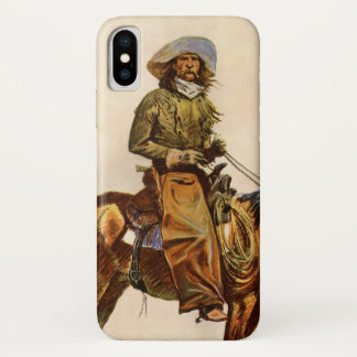 Coque iPhone X Occidental vintage, un cowboy de l'Arizona par