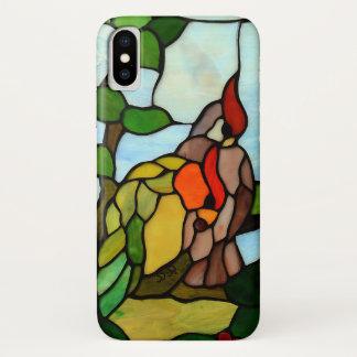 Coque iPhone X Oiseaux en verre souillé