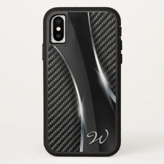 Coque iPhone X Options de la fibre 3 de carbone