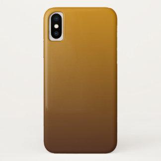 Coque iPhone X Or épicé Brown Ombre