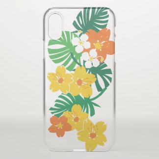 Coque iPhone X Or hawaïen de planche de surf de jardin de