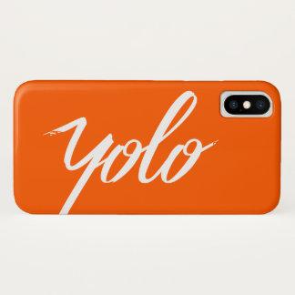 Coque iPhone X Orange de YOLO
