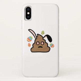 Coque iPhone X Oreilles de lapin d'Emoji Pâques de dunette drôles