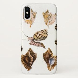 Coque iPhone X Organismes vintages, escargots et mollusques