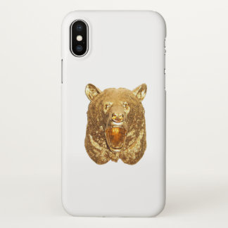 Coque iPhone X Ours d'or