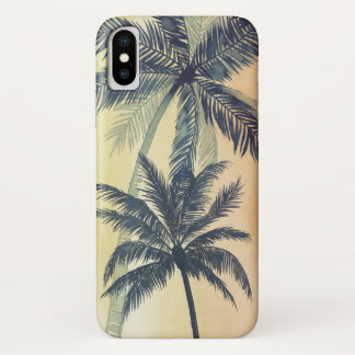 Coque iPhone X Palmettes tropicales