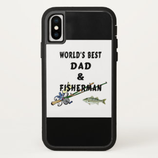 Coque iPhone X Papa de père de pêche le meilleur
