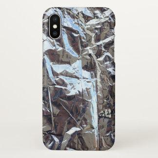 Coque iPhone X papier d'aluminium doré