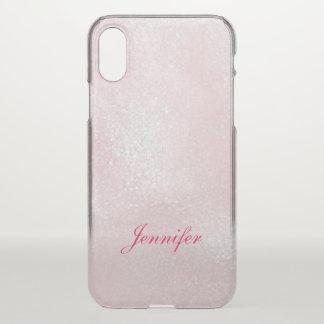 Coque iPhone X PARTIES SCINTILLANTES de LAVANDE de ROSE Girly