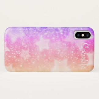 Coque iPhone X Pastels d'étincelle