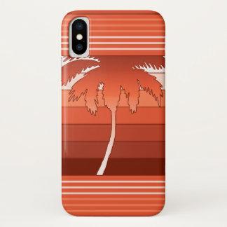 Coque iPhone X Paumes hawaïennes de Hilo barrées