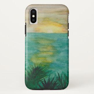 Coque iPhone X Paysage de coucher du soleil