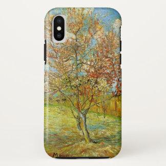 Coque iPhone X Pêcher rose de Van Gogh dans la fleur, beaux-arts