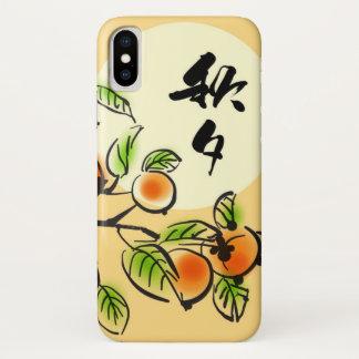 Coque iPhone X Peinture d'encre des kakis