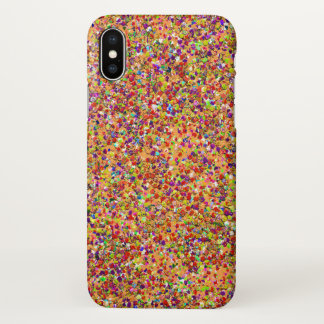 Coque iPhone X Peinture multicolore de mode de parties