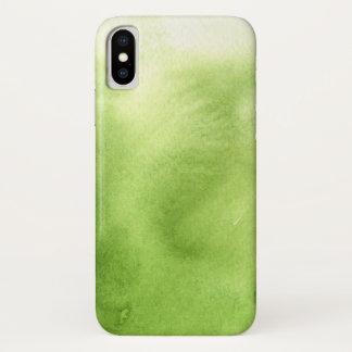 Coque iPhone X peintures d'aquarelle sur un papier rugueux de