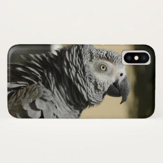 Coque iPhone X Perroquet de gris africain du Congo avec les