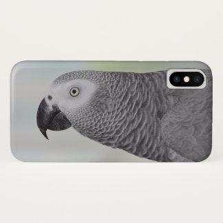 Coque iPhone X Perroquet magnifique de gris africain