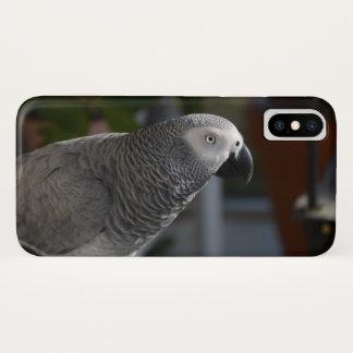 Coque iPhone X Perroquet serein de gris africain