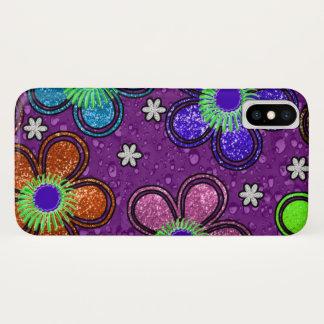 Coque iPhone X Pétale coloré de fleur