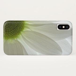 Coque iPhone X Pétales de marguerite blanche