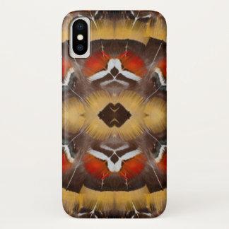 Coque iPhone X Pheasant Feather Design de Madame Amherst