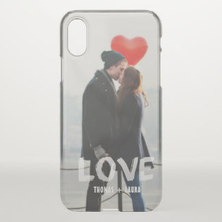 Coque iPhone X Photo peinte à la main recouverte par amour