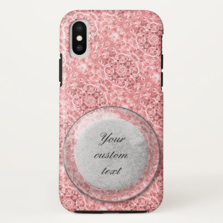 Coque iPhone X Photo rose 0284 de maillons de chaîne