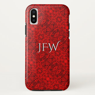 Coque iPhone X Photo rouge 0284 de maillons de chaîne