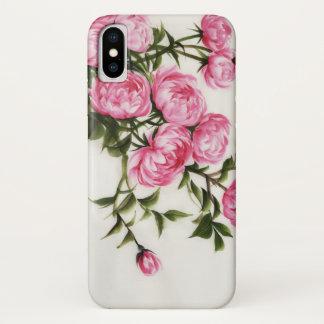Coque iPhone X Pivoines