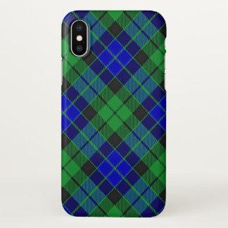 Coque iPhone X Plaid de tartan écossais de MacKay de clan