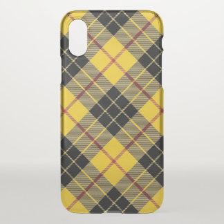 Coque iPhone X Plaid de tartan écossais de MacLeod de clan
