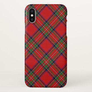 Coque iPhone X Plaid de tartan écossais de Stewart de clan