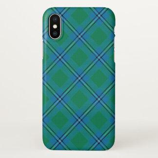 Coque iPhone X Plaid de tartan écossais d'Irvine Irwin de clan