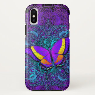 Coque iPhone X Plaisir de papillon dur