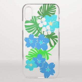 Coque iPhone X Planche de surf hawaïenne Turq de jardin de