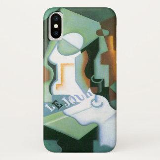 Coque iPhone X Plat de bouteille et de fruit par Juan Gris,