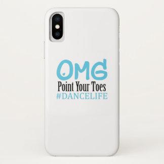 Coque iPhone X Point drôle d'Omg de professeur de cadeau de danse