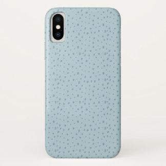 Coque iPhone X Points bleus en pastel