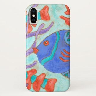 Coque iPhone X Poissons Bruit-Colorés